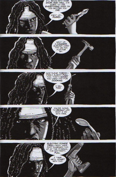 The Walking Dead Comic Michonne and Governor Torture