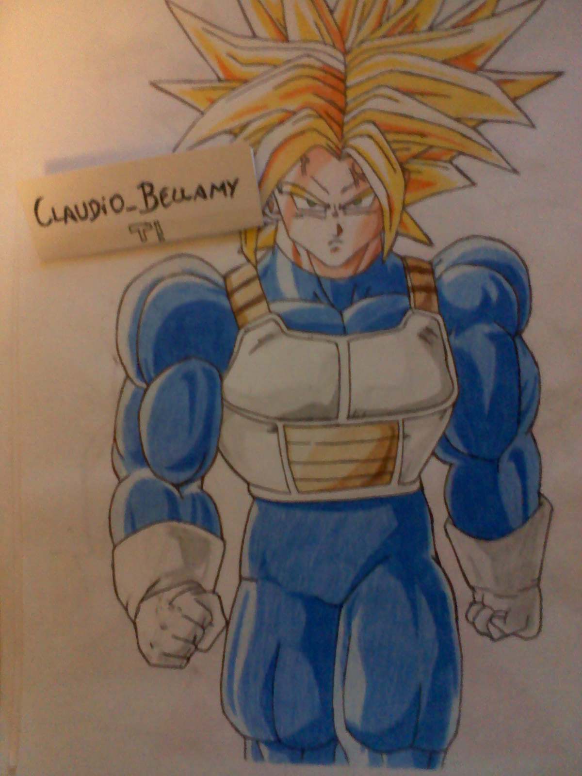 Trunks Ssj Para Colorear Genes Mil Board