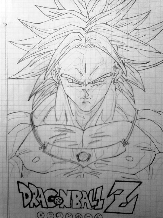 Dragon Ball Z Broly Drawings