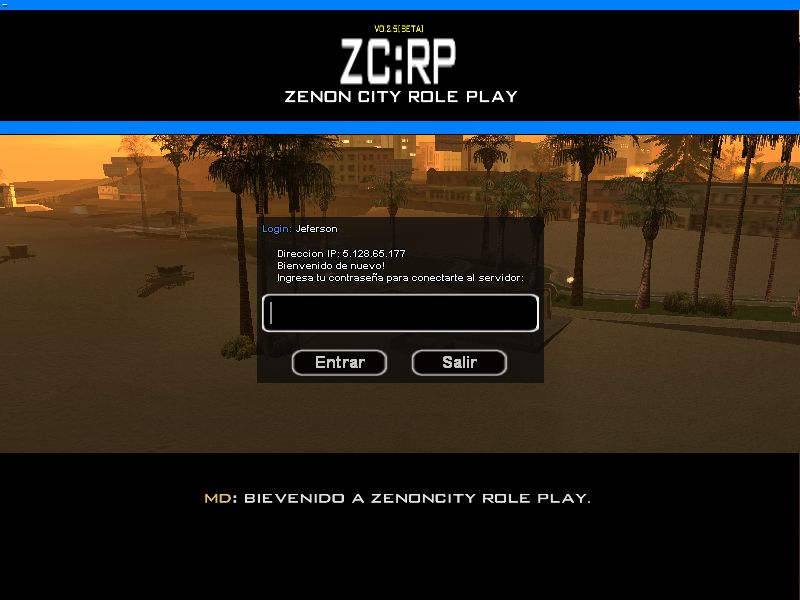 [Server SAMP 0.3d] Zenon City RP