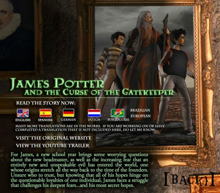Curse gatekeeper potter the pdf james of the and