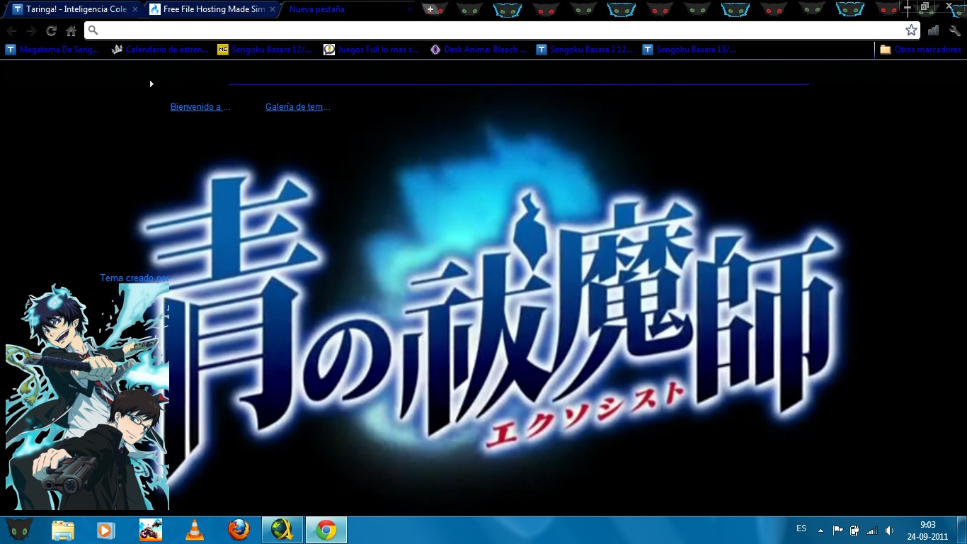 ao no exorcist en tu chrome